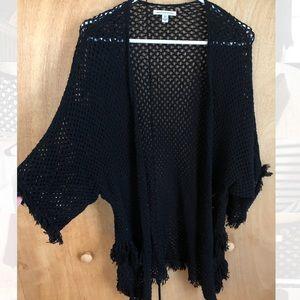 AE open knit black kimono🖤